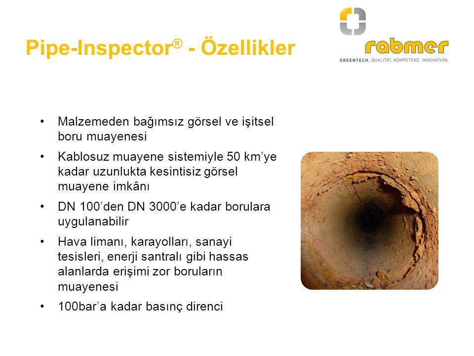 Pipe-Inspector® - Özellikler