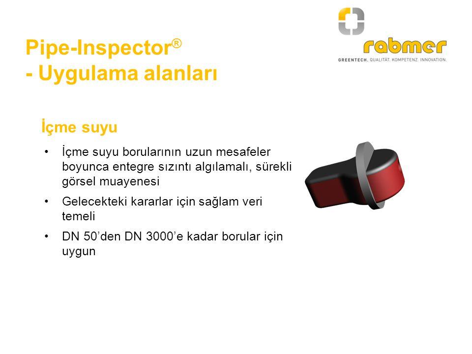 Pipe-Inspector® - Uygulama alanları