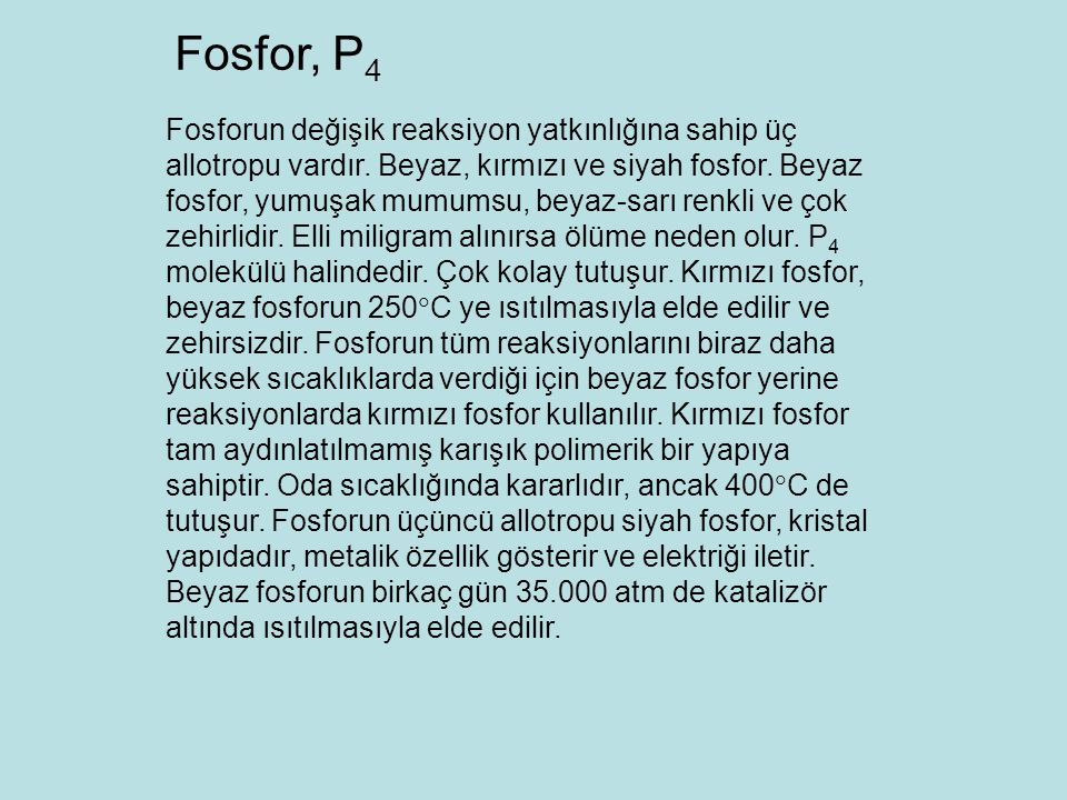 Fosfor, P4