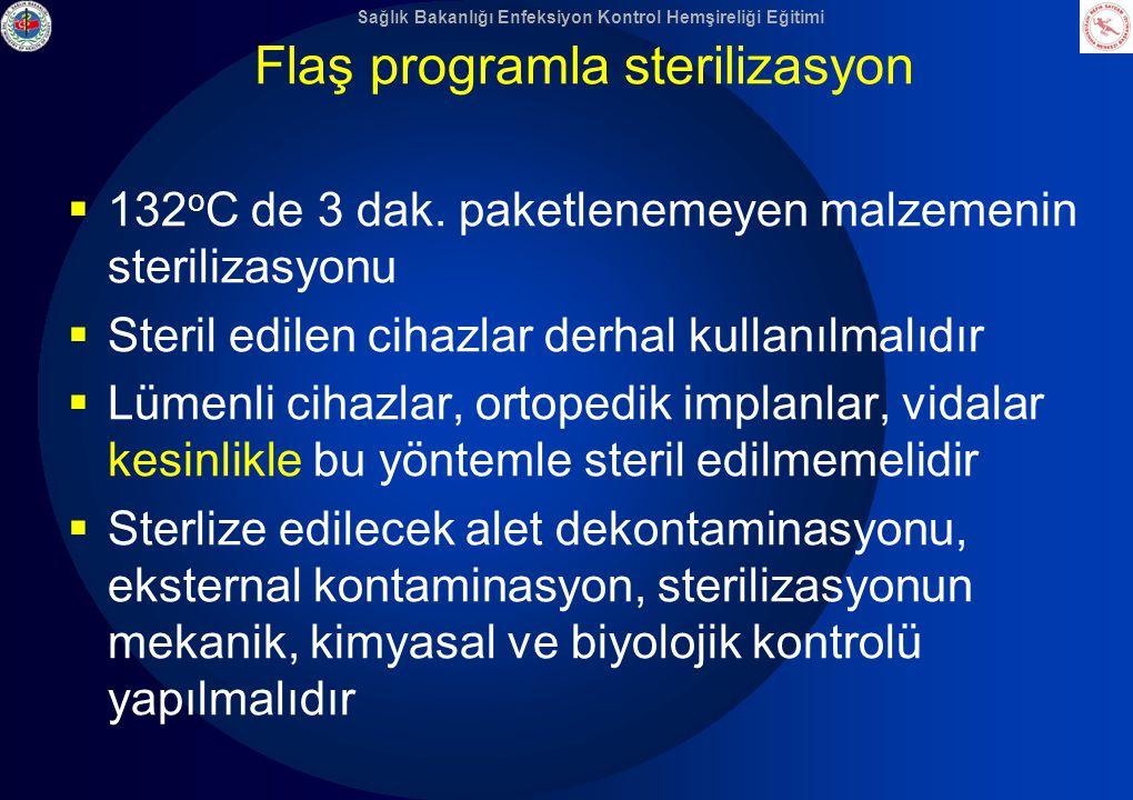 Flaş programla sterilizasyon