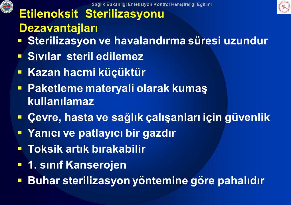 Etilenoksit Sterilizasyonu Dezavantajları