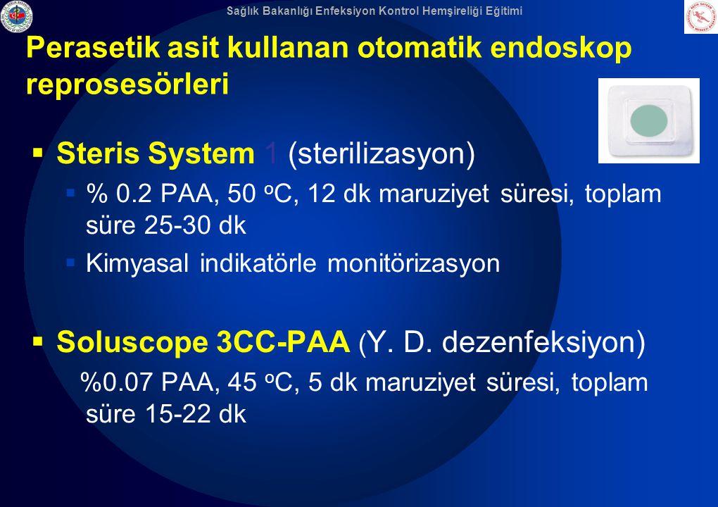 Perasetik asit kullanan otomatik endoskop reprosesörleri