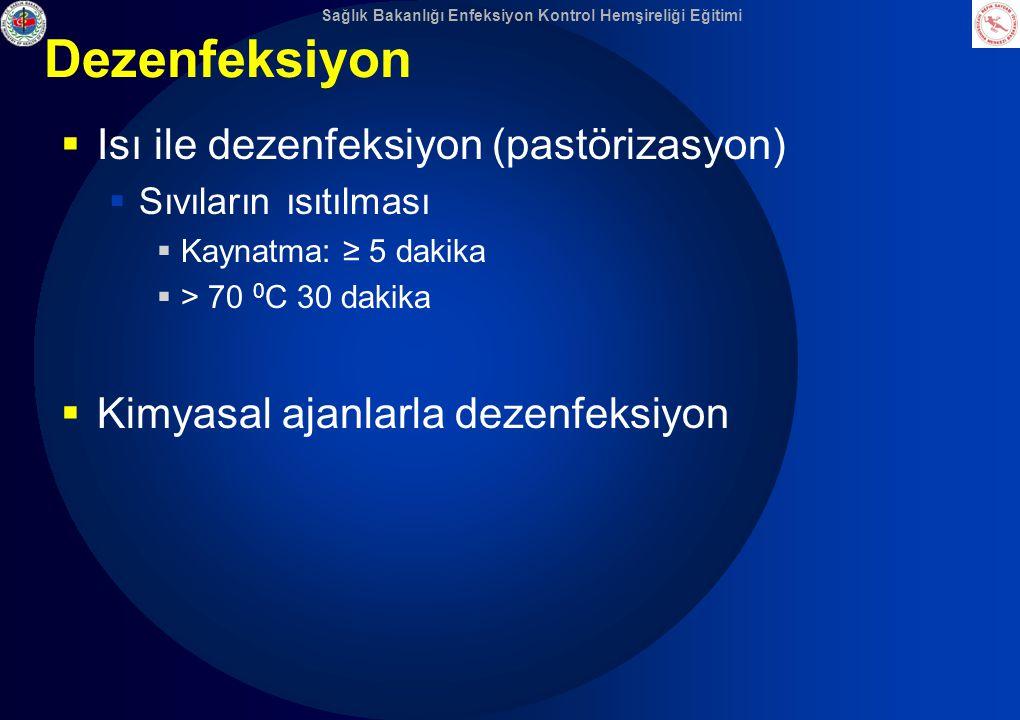 Dezenfeksiyon Isı ile dezenfeksiyon (pastörizasyon)