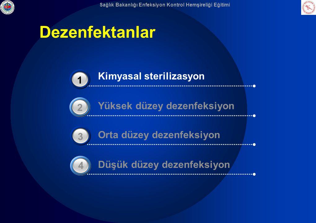 Dezenfektanlar Kimyasal sterilizasyon 3 1 Yüksek düzey dezenfeksiyon 2