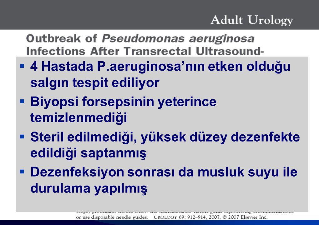 4 Hastada P.aeruginosa'nın etken olduğu salgın tespit ediliyor