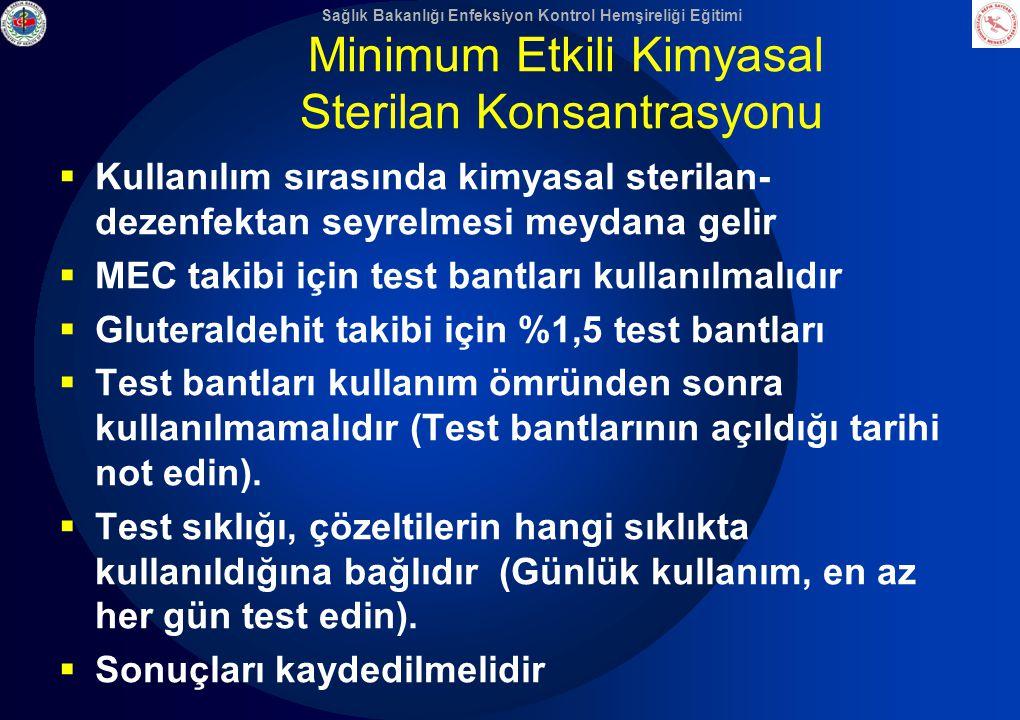Minimum Etkili Kimyasal Sterilan Konsantrasyonu