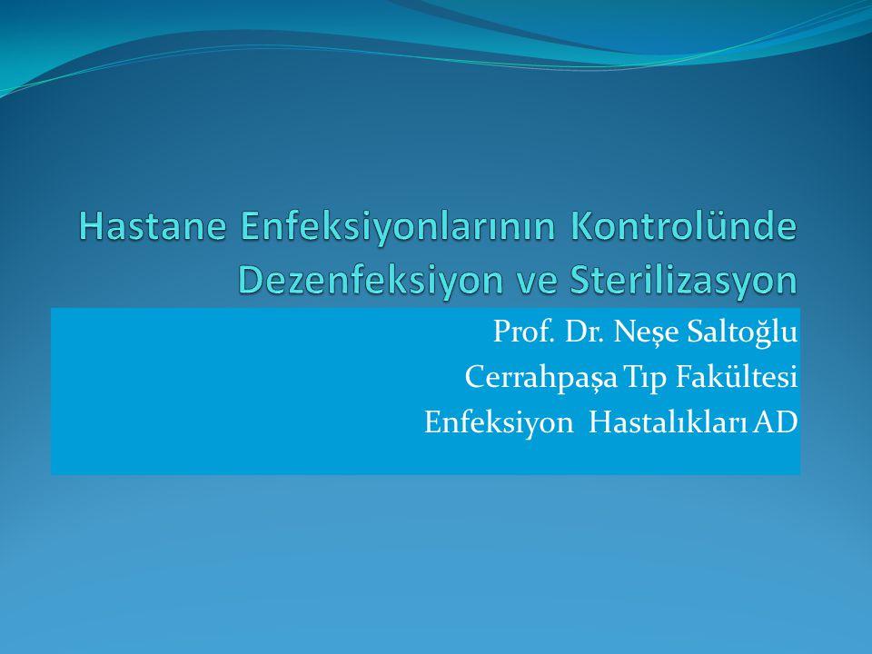 Hastane Enfeksiyonlarının Kontrolünde Dezenfeksiyon ve Sterilizasyon