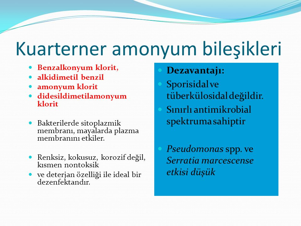 Kuarterner amonyum bileşikleri