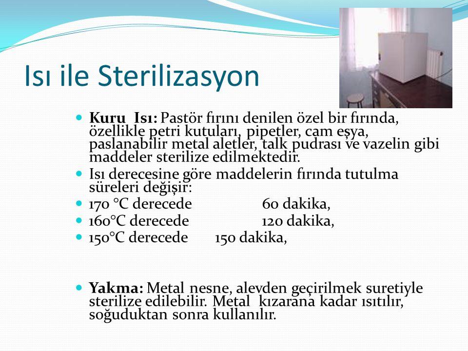 Isı ile Sterilizasyon