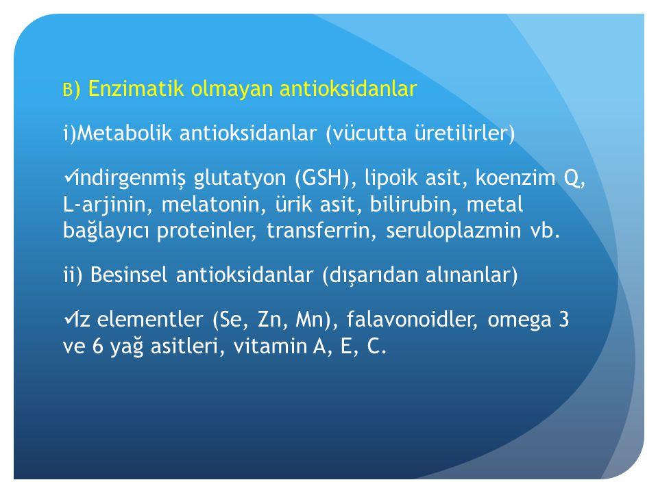 Metabolik antioksidanlar (vücutta üretilirler)