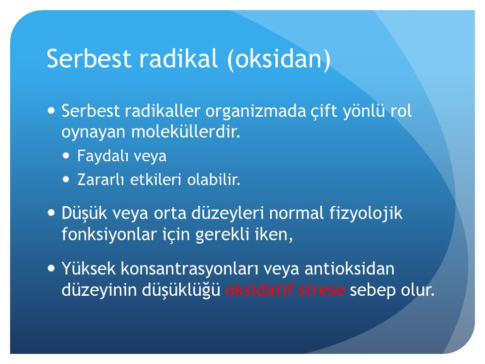 Serbest radikal (oksidan)