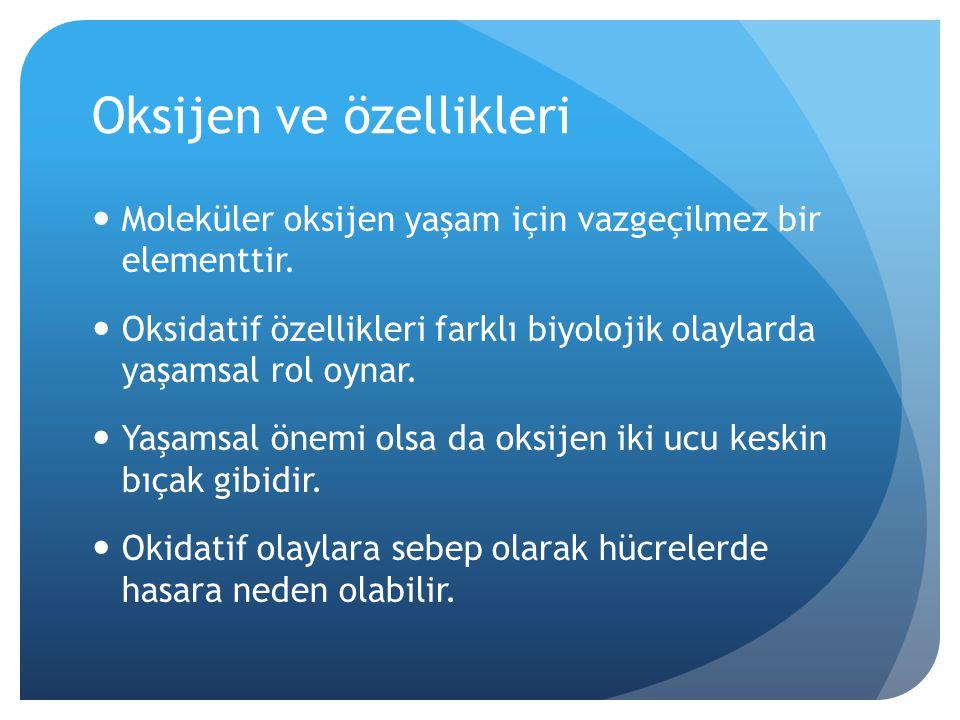 Oksijen ve özellikleri
