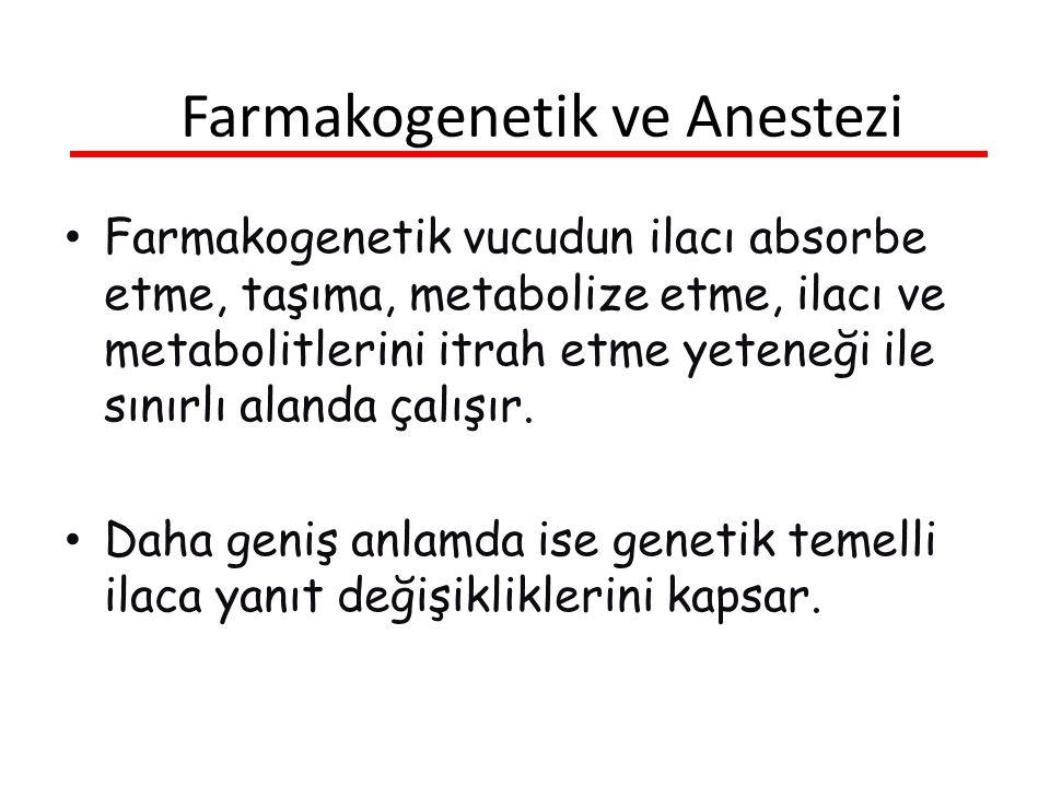 Farmakogenetik ve Anestezi