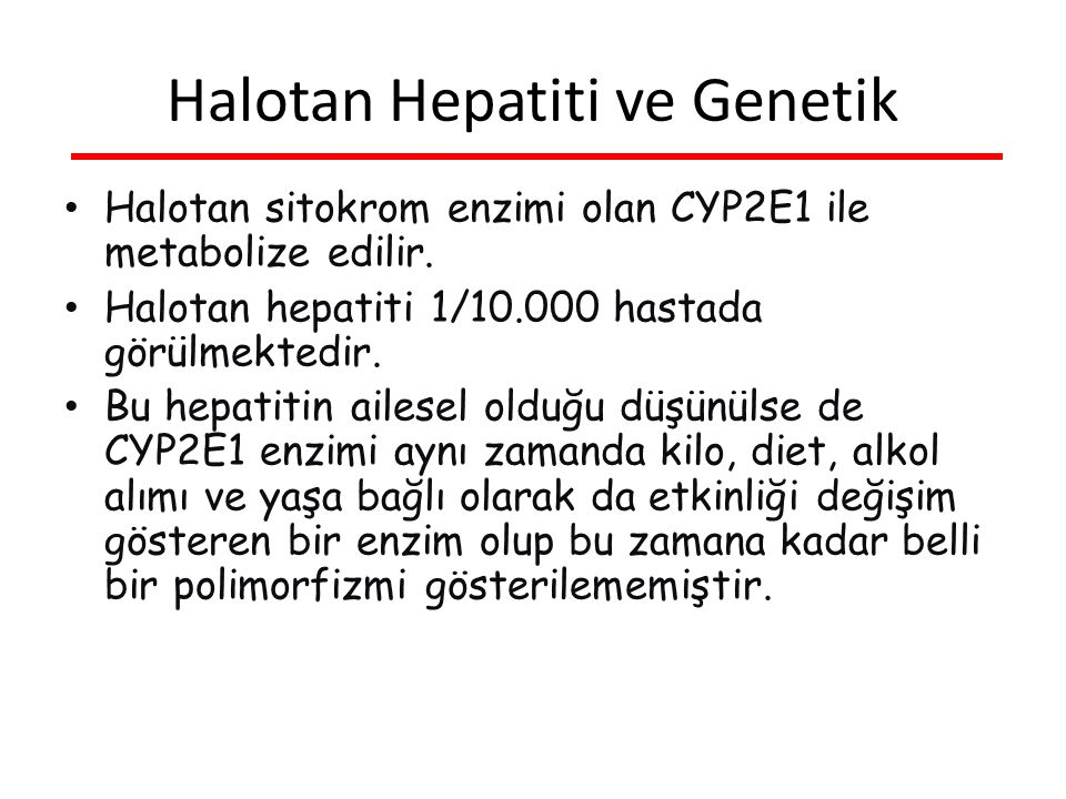 Halotan Hepatiti ve Genetik