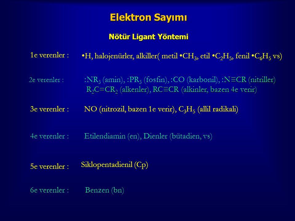 Elektron Sayımı 1e verenler :