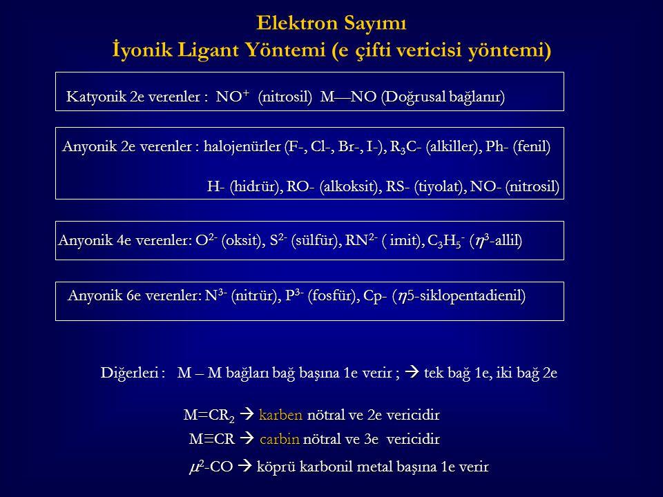 İyonik Ligant Yöntemi (e çifti vericisi yöntemi)