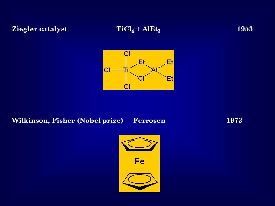 Ziegler catalyst TiCl4 + AlEt3 1953