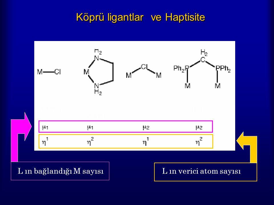 Köprü ligantlar ve Haptisite