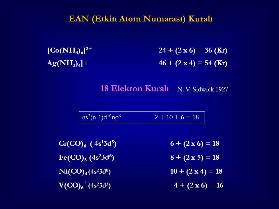 EAN (Etkin Atom Numarası) Kuralı