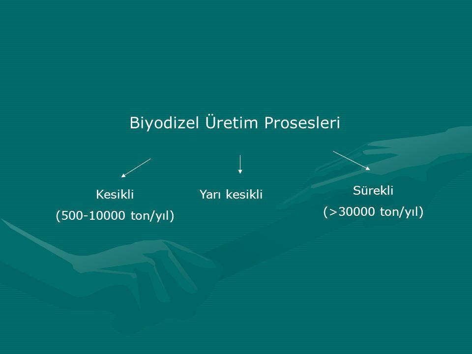 Biyodizel Üretim Prosesleri