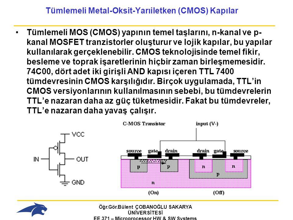 Tümlemeli Metal-Oksit-Yarıiletken (CMOS) Kapılar