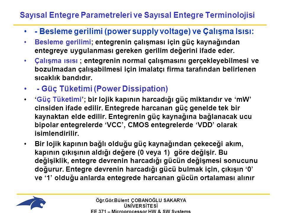 Sayısal Entegre Parametreleri ve Sayısal Entegre Terminolojisi