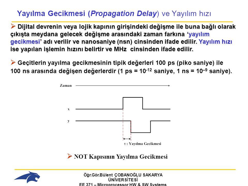 Yayılma Gecikmesi (Propagation Delay) ve Yayılım hızı