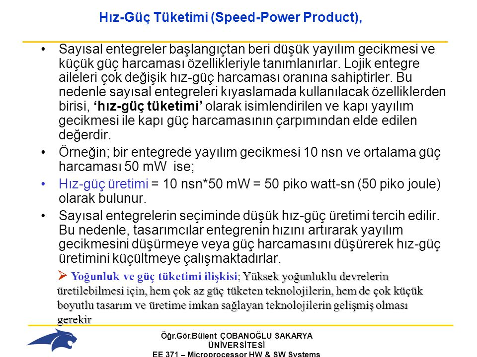 Hız-Güç Tüketimi (Speed-Power Product),