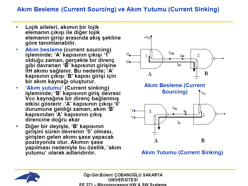 Akım Besleme (Current Sourcing) ve Akım Yutumu (Current Sinking)