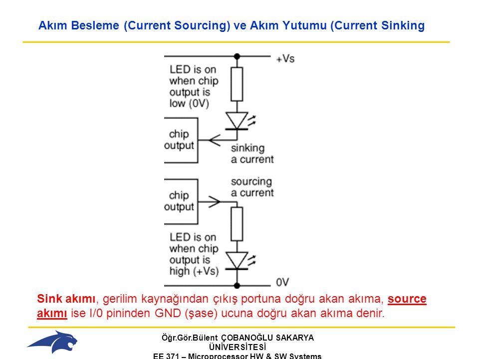 Akım Besleme (Current Sourcing) ve Akım Yutumu (Current Sinking