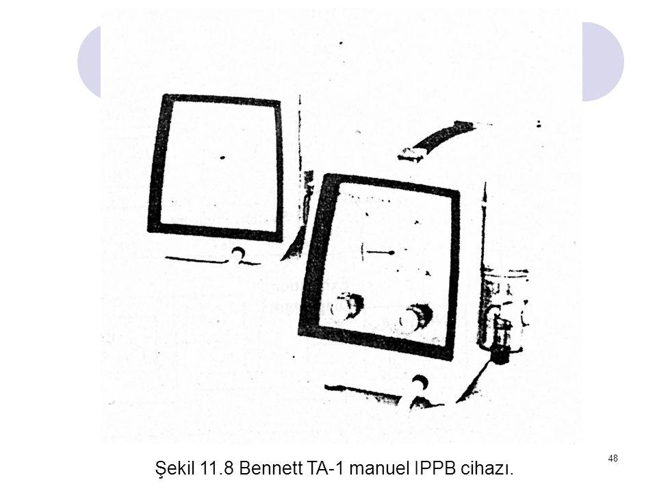 Şekil 11.8 Bennett TA-1 manuel IPPB cihazı.