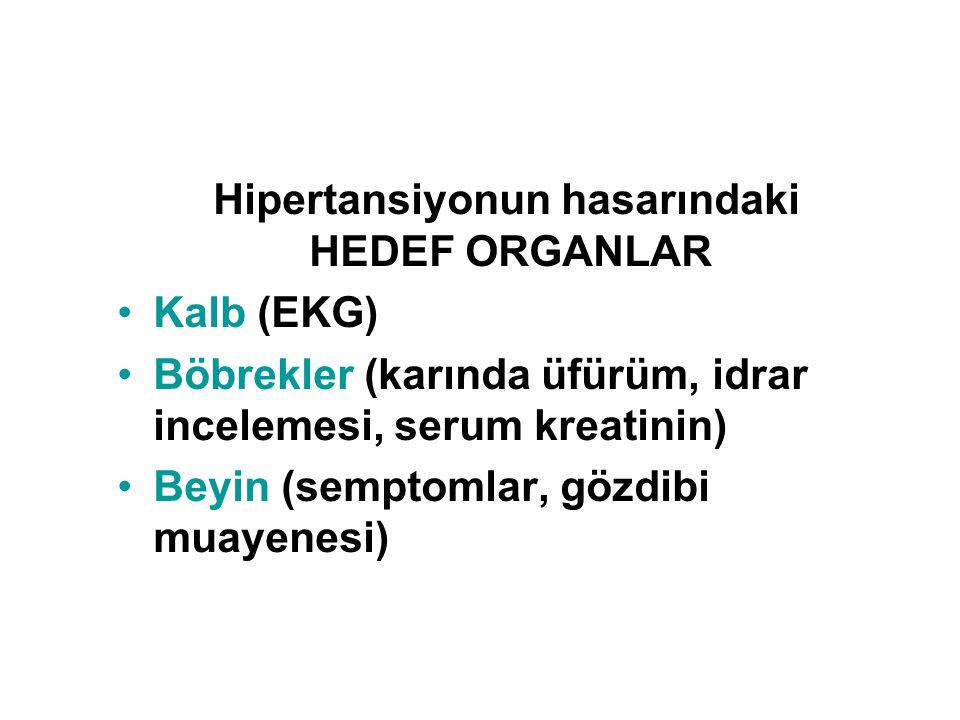 Hipertansiyonun hasarındaki HEDEF ORGANLAR Kalb (EKG)