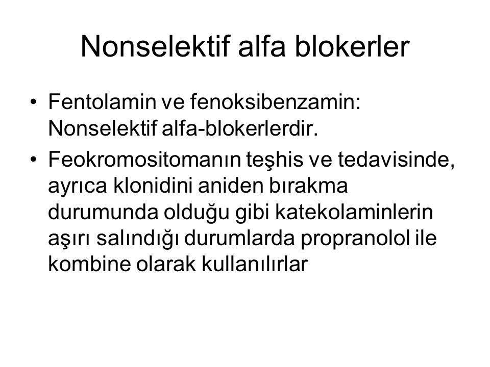 Nonselektif alfa blokerler