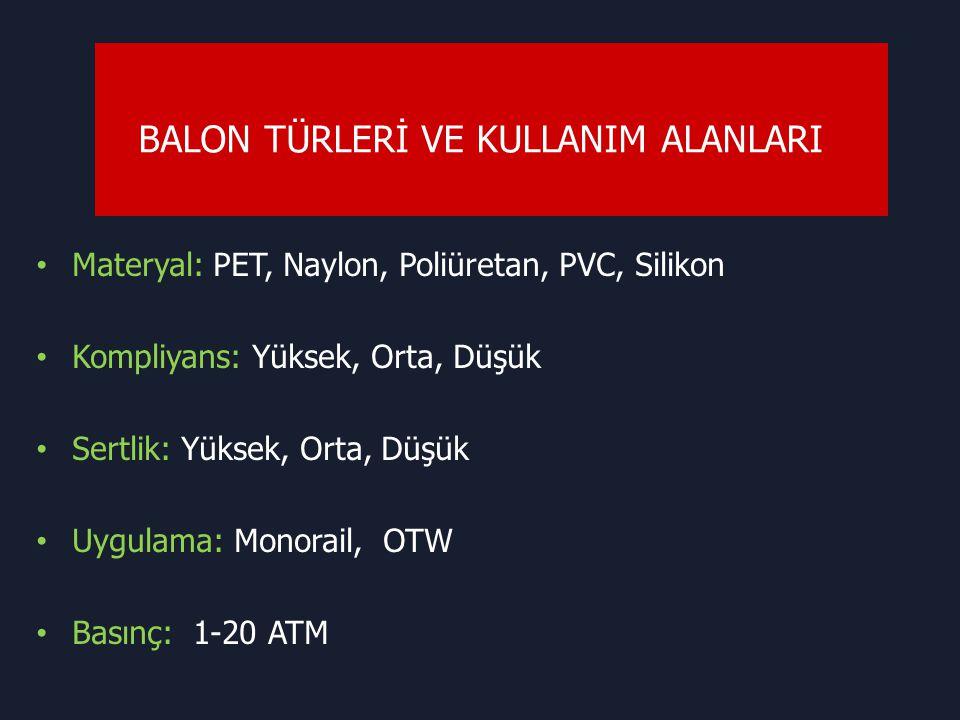 BALON TÜRLERİ VE KULLANIM ALANLARI