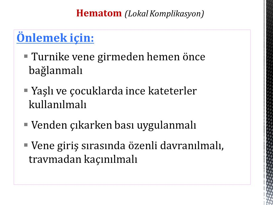 Hematom (Lokal Komplikasyon)