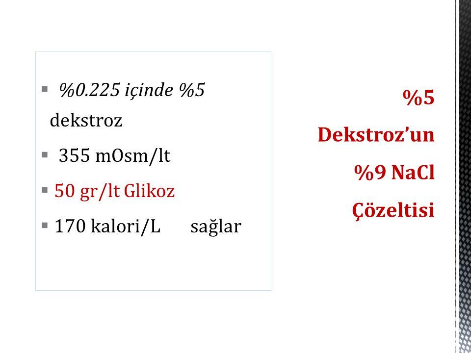 %5 Dekstroz'un %9 NaCl Çözeltisi