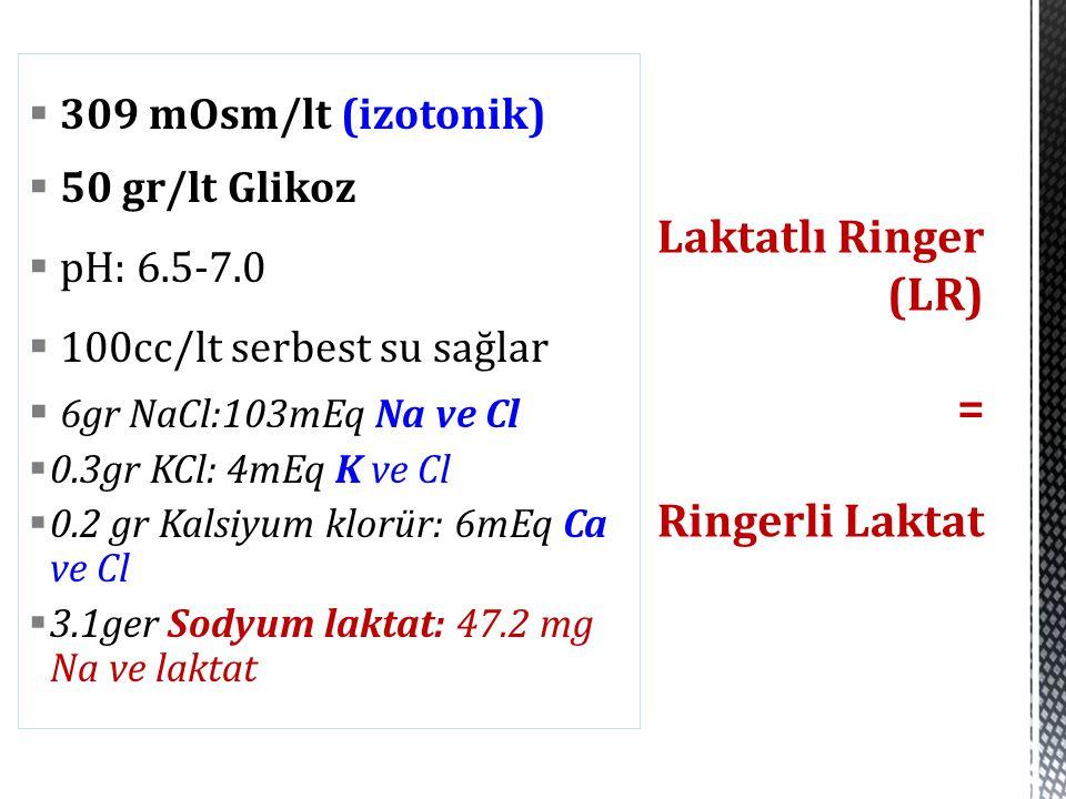 Laktatlı Ringer (LR) = Ringerli Laktat