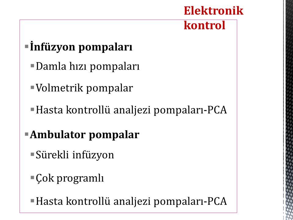 Elektronik kontrol İnfüzyon pompaları Damla hızı pompaları