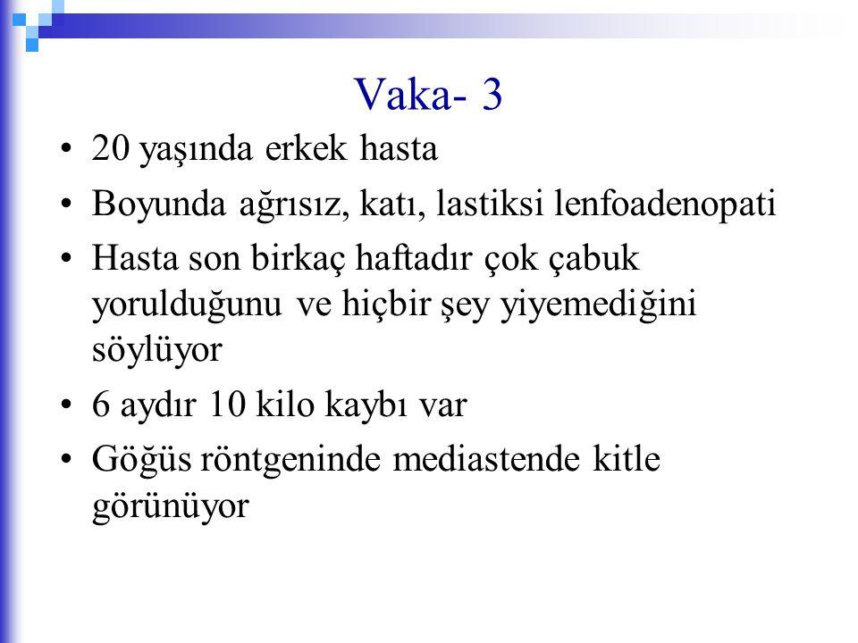 Vaka- 3 20 yaşında erkek hasta