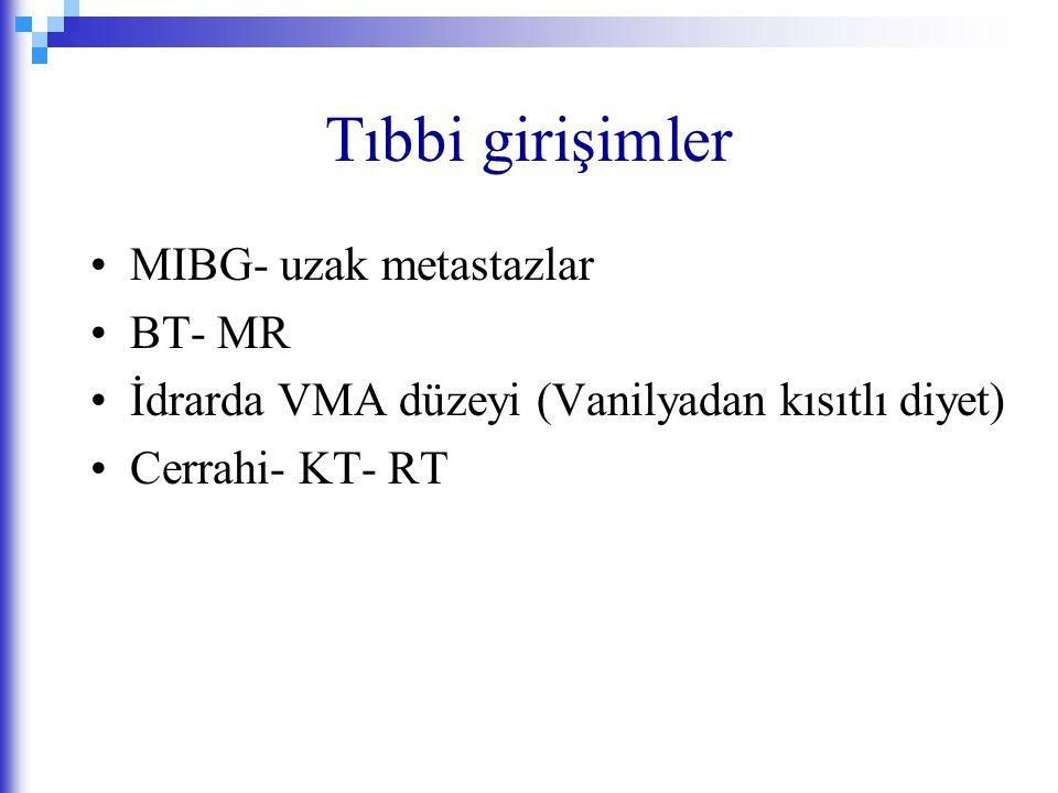 Tıbbi girişimler MIBG- uzak metastazlar BT- MR