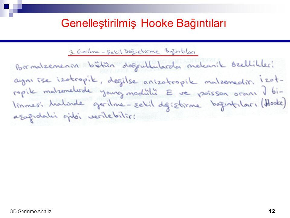 Genelleştirilmiş Hooke Bağıntıları
