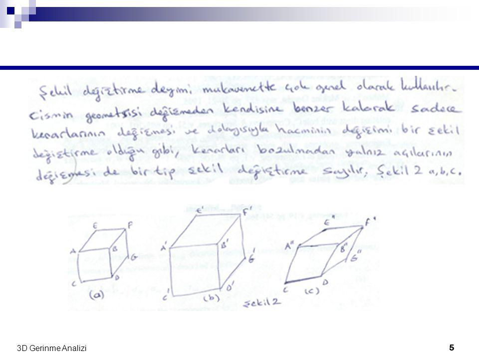 3D Gerinme Analizi