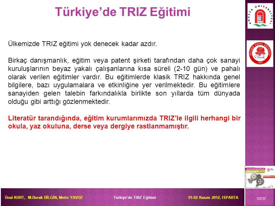 Türkiye'de TRIZ Eğitimi