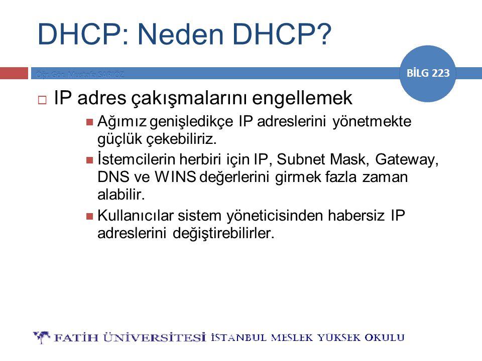 DHCP: Neden DHCP IP adres çakışmalarını engellemek