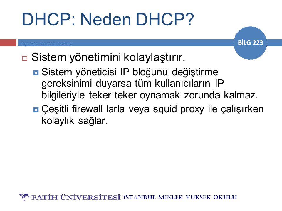 DHCP: Neden DHCP Sistem yönetimini kolaylaştırır.
