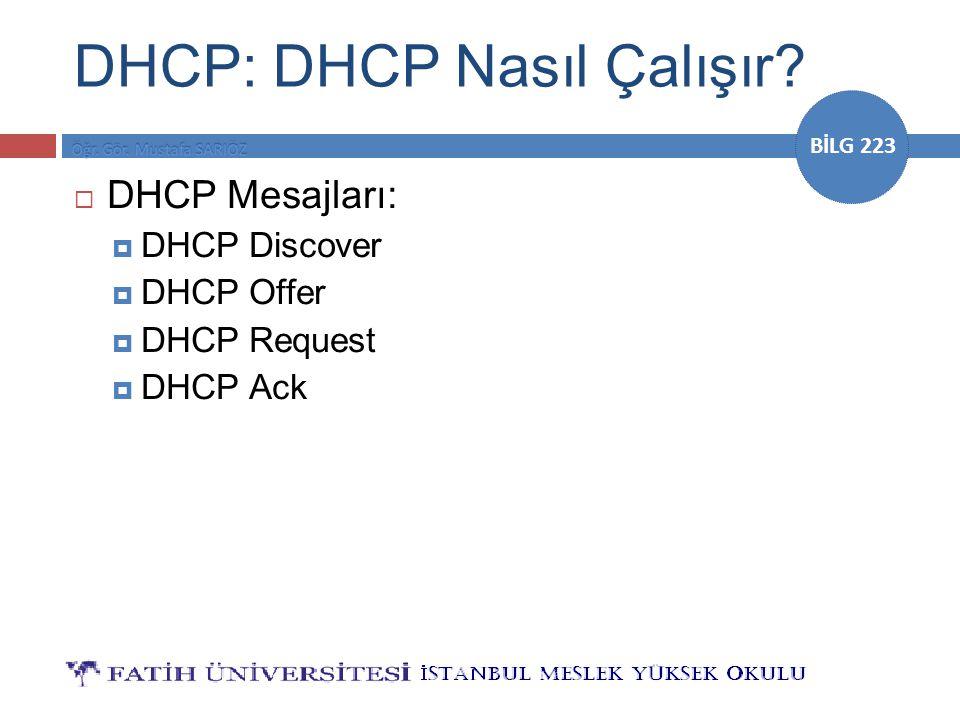 DHCP: DHCP Nasıl Çalışır