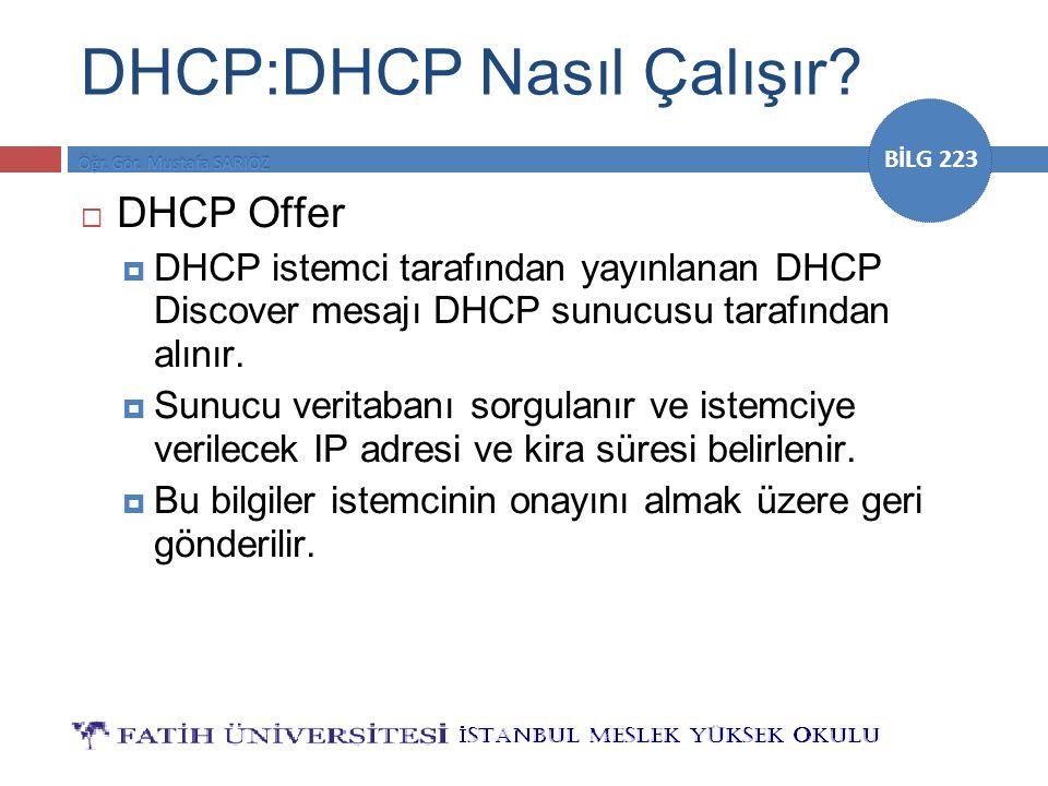 DHCP:DHCP Nasıl Çalışır