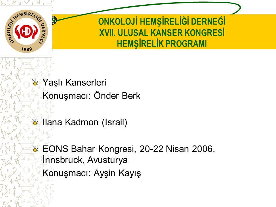 ONKOLOJİ HEMŞİRELİĞİ DERNEĞİ XVII