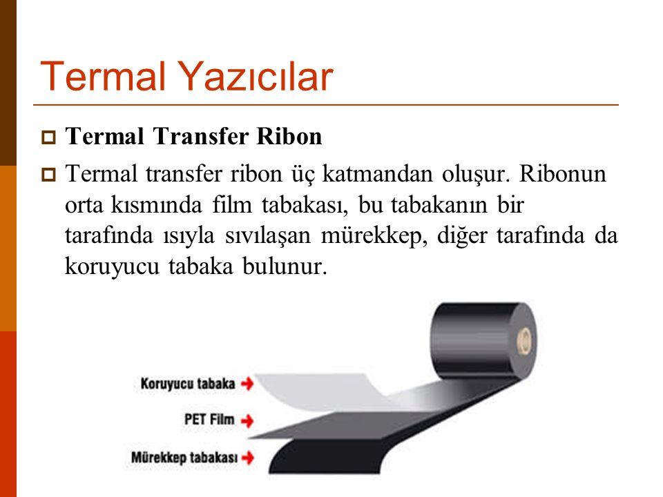 Termal Yazıcılar Termal Transfer Ribon