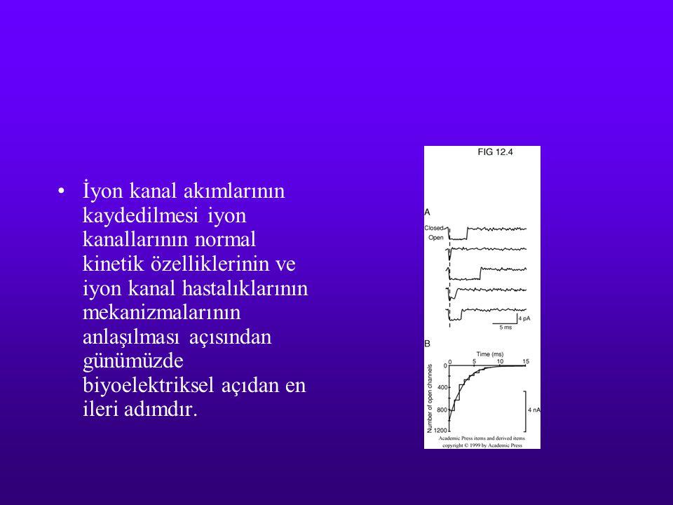 İyon kanal akımlarının kaydedilmesi iyon kanallarının normal kinetik özelliklerinin ve iyon kanal hastalıklarının mekanizmalarının anlaşılması açısından günümüzde biyoelektriksel açıdan en ileri adımdır.